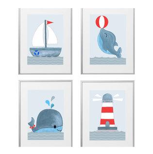 LilaFisch-Handgemalte Kinderzimmerbilder und Poster Kinderzimmer